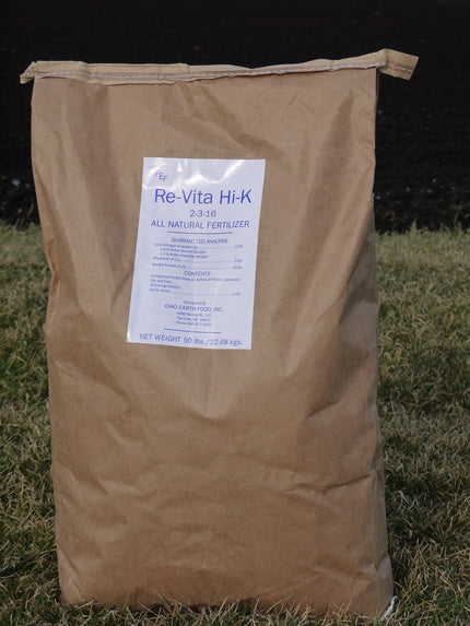 For commercial growers ReVita Hi-K 2-3-16* with Sulfate of Potash 50# bag*