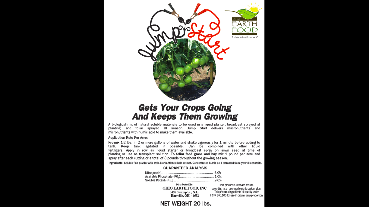 Jumpstart 5-1-9 soluble organic fertilizer and transplant solution