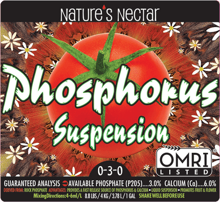 NATURE'S NECTAR PHOSPHORUS SUSPENSION 0-3-0 OMRI listed