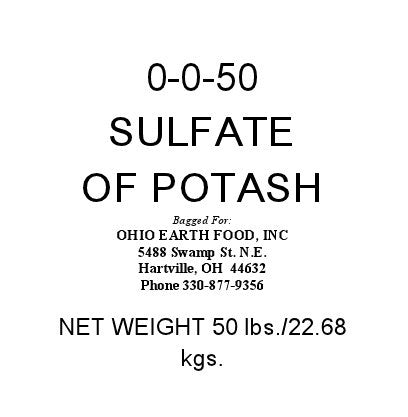 SULFATE OF POTASH (0-0-50) OMRI Listed