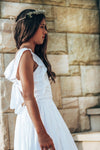 White Alouette Tie Back Dress Tween
