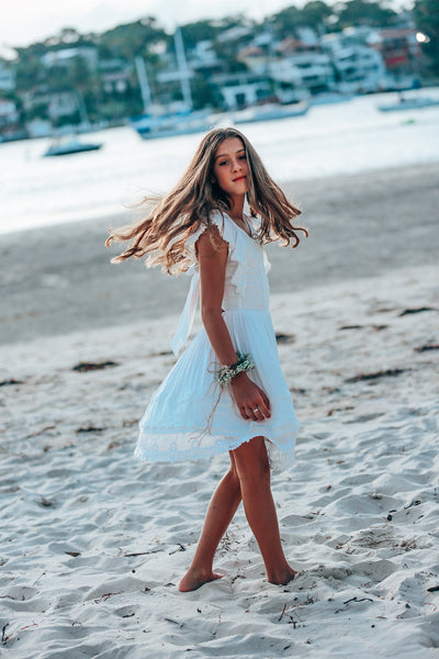 Camille Tie Back Tween mini dress