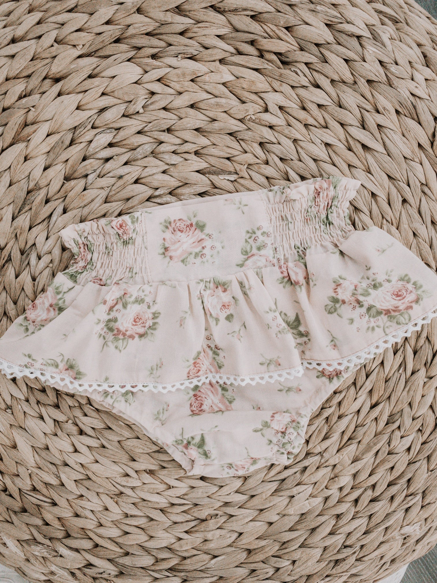 Floral bloomers soft dusty pink