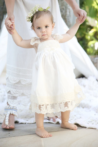 Baby Ivory French Vanilla Dress - Tea Princess