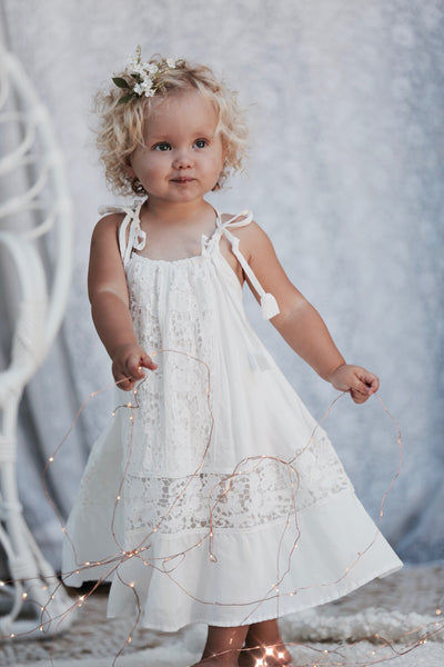 Elm Baby Dress - Tea Princess
