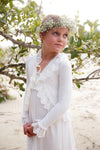 Ivory Lace Trim Cardigan - Tea Princess