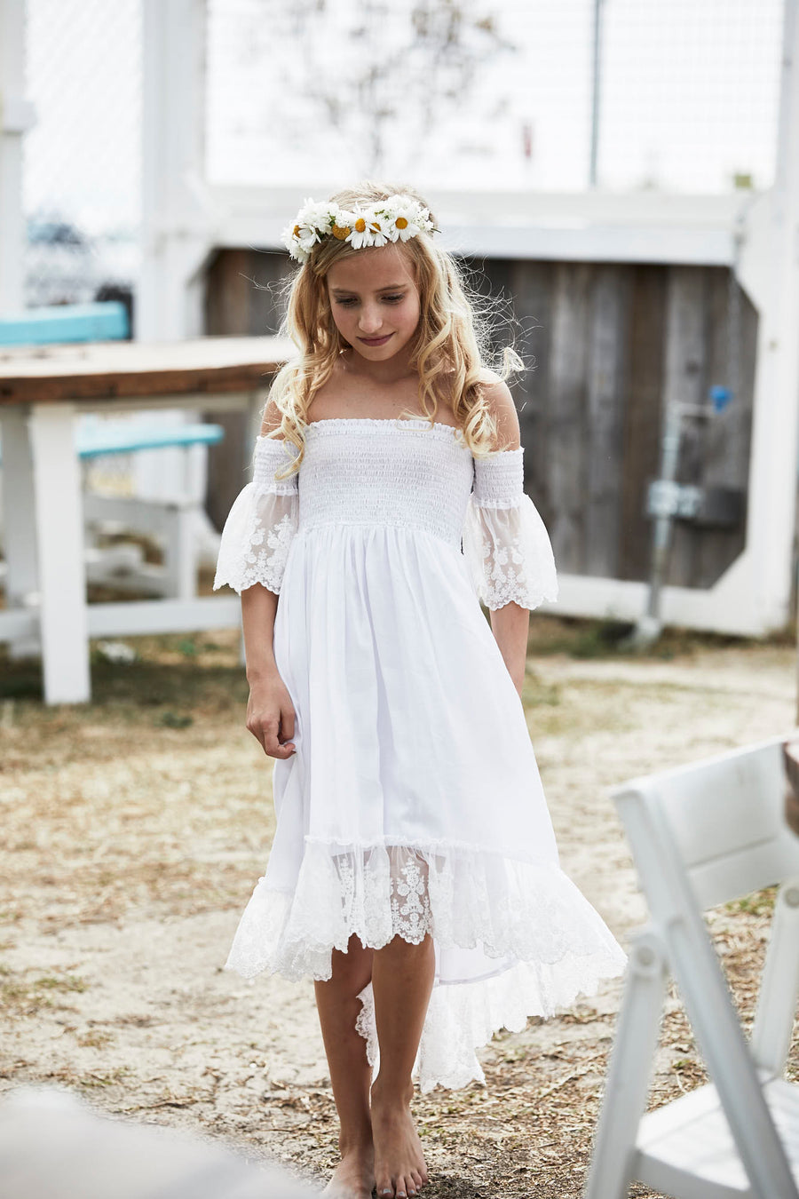 Boho Flower Girl Dresses - Tea Princess