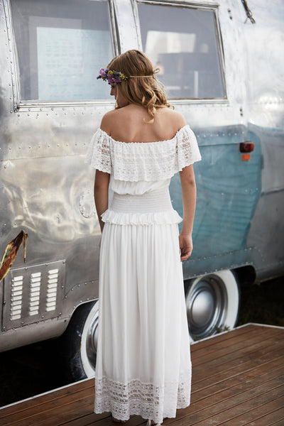 Dusk Dress Off White - Tween - Tea Princess