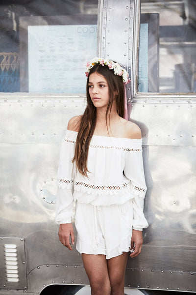 Aruba Playsuit Off White - Tween - Tea Princess