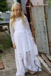PAISLEY WHITE  LACE MAXI DRESS