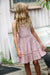 Coral Daisy Trim Mini Dress Tween