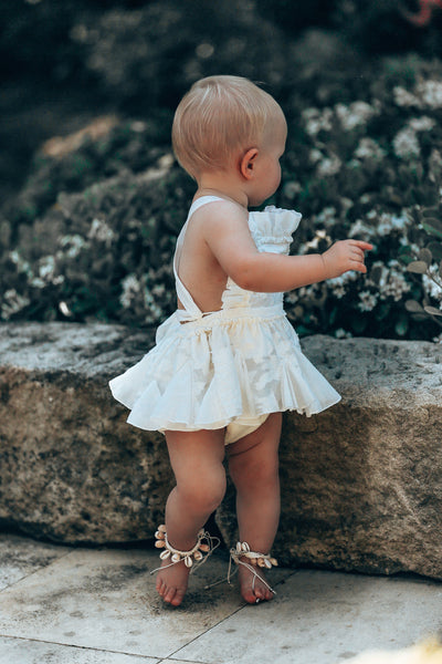 Jaya Baby Sunsuit/Romper in offwhite