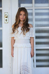 Dusk Dress Off White Tween sizes 9 & 10 years