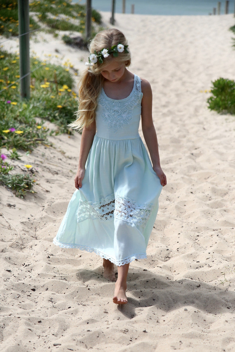 SECOND Isla Maxi Dress Mint