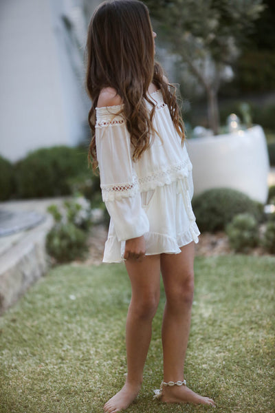 Aruba Tween Playsuit Off White