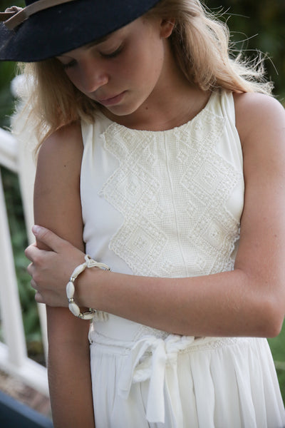 Song Bird Ivory Tween dress