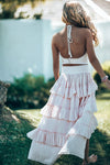 Freya Boho Blush skirt tween & Halter top Set