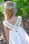French Vanilla Dress Ivory/Off White Lace - Tea Princess