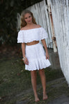 Tulip Tween high waisted skirt and off the shoulder top -(two piece design)