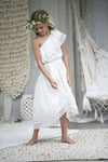 Oceania Offwhite One Shoulder Dress- last size left- size 6 years