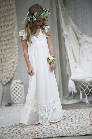 Wren Maxi Dress - Off white/ Ivory New Release design