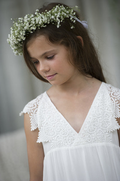 Tween Wren Maxi Dress - Off white