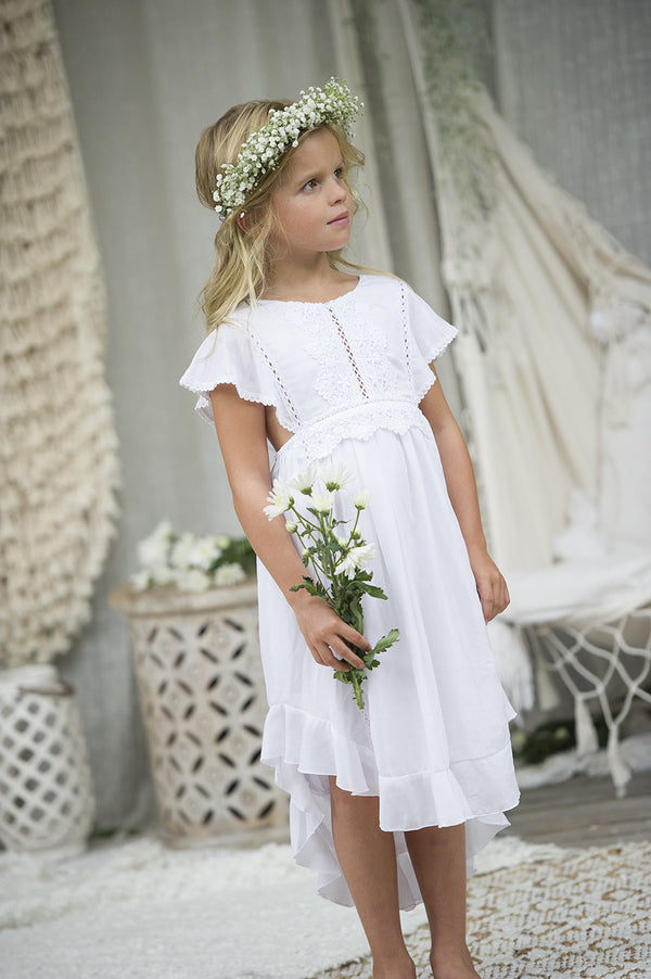 Boho Flower Girl Dresses Tea Princess