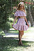 Pink Tulip Tween high waisted skirt & off the shoulder top -(two piece design)