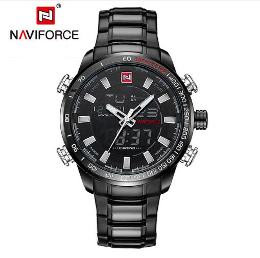 NAVIFORCE Men's Quartz Sport Watch Waterproof