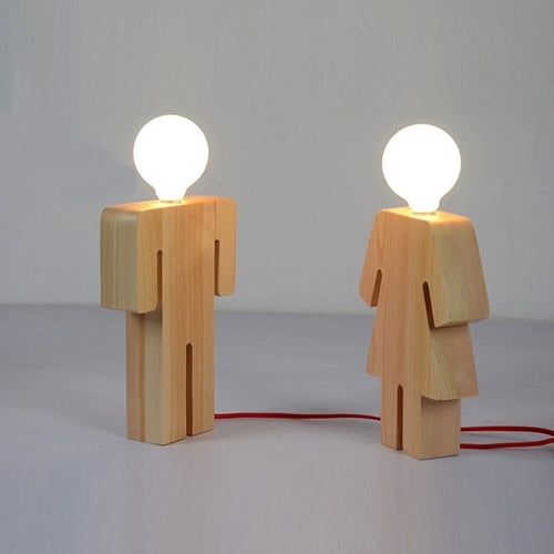 Boy & Girl Desk Light Wood Desk Lamp