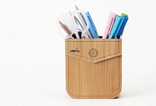 Bamboo Pocket Storage Box