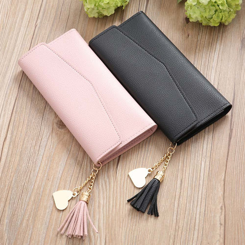 Fashion Women wallet Simple Long Wallet Tassel