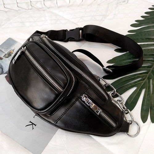 Fashion waist bag Women or Men Unisex Leather Bags