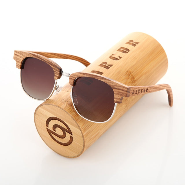 Zebra Wood Vintage Sunglasses