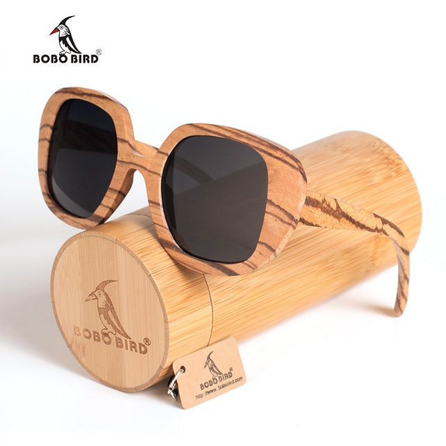 Wood Sunglasses Women Polarized Vintage  Bamboo