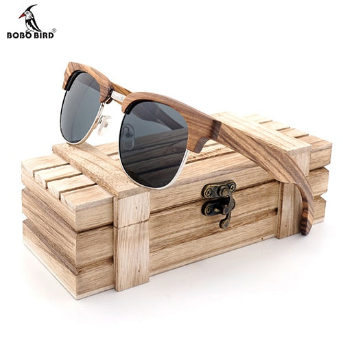 Unisex Wood Sunglasses Luxury