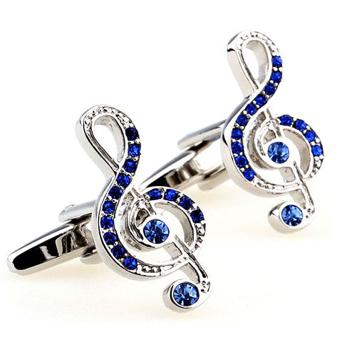 Music Lover Blue Gem Cufflink