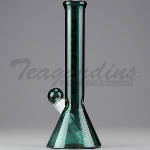 "Delta 9 Glass - 10"" 38mm Beaker Water Pipe Green Glass"