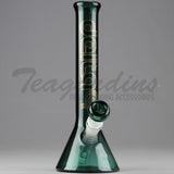 "Delta 9 Glass - 10"" 38mm Beaker Waterpipe Green Glass"