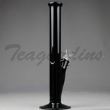 Left Coast Glass - Straight Black Glass Water Pipes
