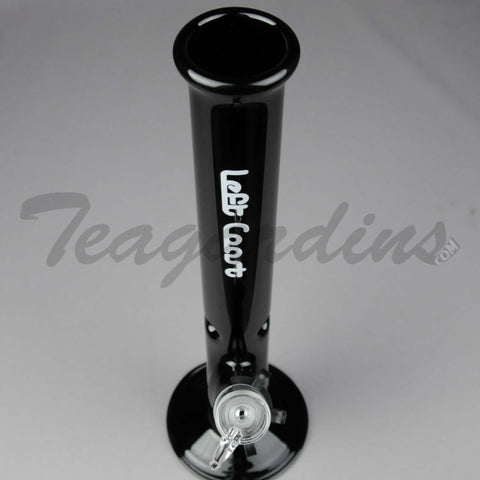"Left Coast Glass - 14"" Straight Black Water Pipe"