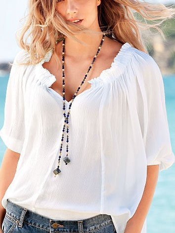 Plus Size V Neck Casual Solid Half Sleeve Tops