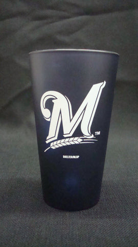 Milwaukee Brewers Blue Frosted Pint Glass