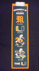 University of Miami of Florida Heritage Banner