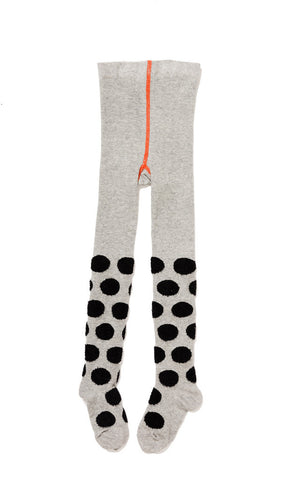 Hansel from Basel tights - polka dot grey and black