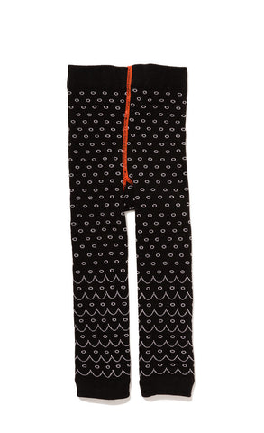 Hansel from Basel leggings - scallop stripe black