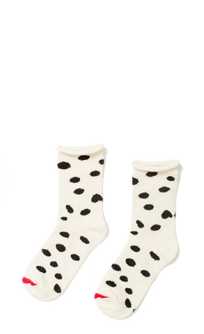Hansel from Basel socks - dalmation crew ivory
