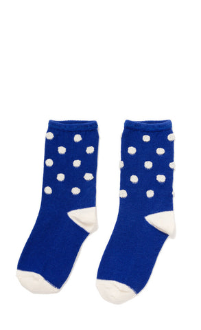 Hansel from Basel socks - puff dot crew blue