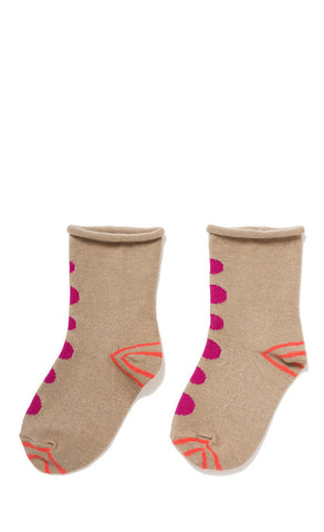 Hansel from Basel socks - thumbprint crew wheat