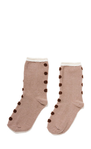 Hansel from Basel socks - Seam dot crew wheat